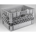 Connectronics PLA-24 24 Quart Film Studio & Video Production Milk Crate - Gray