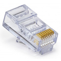 Platinum Tools 100003B EZ-RJ45 CAT5/5e Connectors for Solid or Stranded Conductors - Box of 100