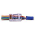 Photo of Platinum Tools 100011C EZ-RJ45 Cat 6 Connectors & Strain Reliefs - Clear 30 each