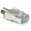 Photo of Platinum Tools 100023C EZ-RJ45 CAT5/5e/6 Shielded Connectors w/ External Ground - Solid or Stranded - 10 Pack Clamshell