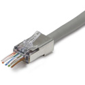 Photo of Platinum Tools 100048C ezEX38 Shielded RJ45 Connectors Cat 5/5e and POE - Pack 25pcs