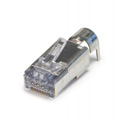 Platinum Tools 105029 ezEX48 10G RJ45 Shielded Connector w/ Ext. Ground for Range .043in - .048in and POE - 100pk