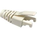 Photo of Platinum Tools 202036WHJ Strain Reliefs for RJ45 Connectors White - Jar of 100
