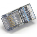 Platinum Tools 202050J ezEX44 10G RJ45 Shielded Connector w/ Int. Ground for Conductor OD Range.039in-.044in-&POE - 50pk