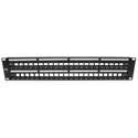 Platinum Tools 643-48U 48 Port Unloaded Keystone Patch Panel - 19 Inch Unshielded - 2RU