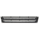 Platinum Tools 644-48SU 48 Port Unloaded Patch Panel - 19 Inch Shielded - 2RU