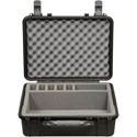 Pliant PAC-MCXR-5CASE IP67 Rated Black Hard Travel Case with Custom Foam to hold up to 5 MicroCom XR Beltpacks