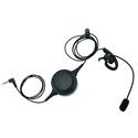 Pliant Technologies PHS-IELPTT-M MicroCom In Ear Headset with PTT Button - Single Ear Left