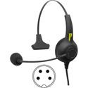Pliant PHS-SB11LE-4F SmartBoom Lite Single-Ear Electret Headset - 4-Pin Female XLR Cable