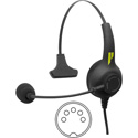 Pliant PHS-SB11LE-5M SmartBoom Lite Single-Ear Electret Headset - 5-Pin Male XLR Cable