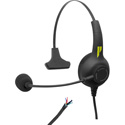 Pliant PHS-SB11LE-U SmartBoom Lite Single-Ear Electret Headset - Unterminated Cable