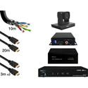 PureLink 1-CAM-STREAM-BASE-10X One Camera Streaming Base Package w/ PTZ Camera/Hemexa Embedder/UHD-120 Amplifier/Encoder