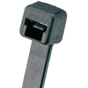 Panduit Pan-Ty Weather Resistant 3.9-Inch 18 Lb. Cable Tie - Black - 100 Pack