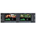 Plura PBM-307DRK-3G Dual 7-Inch 3G Quadruple Input Rackmount Video Monitor