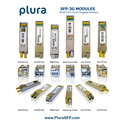 Plura SFP-3G-2RX-HD-BF-LR-C SFP Module - 3Gbps SDI Dual Coaxial Receiver with Reclocker HDBNC