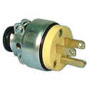 15A-125V NEMA 5-15P  Commercial Grade Vinyl Armored 3-Prong AC Male Plug Yellow