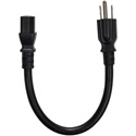 Panamax 15-IEC1 14/3 SJT Black NEMA 5-15P to IEC-60320-C13 Power Cable - 1 Foot
