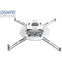 Premier Mounts PDS-PLUS-W Universal Video Projector Ceiling Mount - 75 Pound Load Capacity - White
