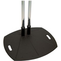 Premier Mounts PSD-TL84B Dual-Pole Floor-mountable Stand - Up to 160lb Display - Black - 84 Inch