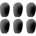 Point Source Audio 6WSN-BL 6 pack of Black Windscreens