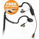 Point Source Audio CM-i5-4FxPH In-Ear Headset w/Condenser Mic - 4-Pin Female XLR for Clear-Com w/Free 3.5mm TRRS Adapter