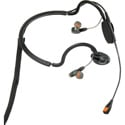 Point Source Audio CM-i5 Dual In-Ear Intercom Headset with Condenser Noise-Cancelling Boom Mic - 4-Pin Male XLR