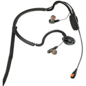 Point Source Audio CM-i5-5M CM-i5 Dual In-Ear Intercom Headset with Condenser Noise-Cancelling Boom Mic - 5-Pin Male XLR