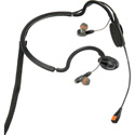 Point Source Audio CM-i5 Dual In-Ear Intercom Headset with Condenser Noise-Cancelling Boom Mic - 5-Pin Male XLR Stereo