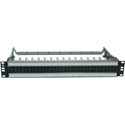 ADC PPI15232-MVJ-BK 1.5RU 2x32 Mid-Size HD normalled video non Terminating - w/Cable Bar - Black