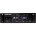 Pure Resonance Audio PRA-RZMA120BT 120 Watt Rack Mount 4 Zone Commercial Mixer Amplifier with Bluetooth