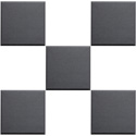 Primacoustic F121 1212 00 1 Inch Broadway Scatter Block Panel 12 Inches x 12 Inches x 1 Beveled Edge - Black
