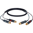 Sescom PROFI-2RCA-C3 Patching Audio Cable Professional 2 RCA Male to 2 RCA Male - 3 Foot
