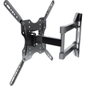 Promounts OMA4401 Small Articulating Full Motion TV Wall Mount for TVs 23-55 Inches up to 88lbs