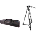 Prompter People TR-HD500 Affordable Fluid Head Heavy Duty Tripod - supports up to 50lb
