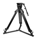 Prompter People TRI-HD300 Affordable Fluid Head Heavy Duty Tripod with Carry Bag