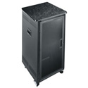 Photo of 21 Space Rolling Rack with Plexi Front Door and Graphite Top