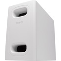 QSC AD-S.SUB 6.5-inch Dual Voice Coil Small Format Surface Subwoofer - White
