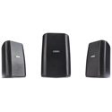 QSC Audio AD-S32T 2-Way Surface Mount Speaker - Black - Pair