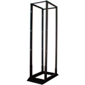 Quest FR1924-28-02 4-Post Cage Nut Open Frame Steel Floor Rack - 28U
