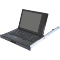 Recortec RMM-617C 17-Inch Rackmount LCD KVM Console with Monitor and Keyboard with Two-Button Touchpad - 1RU - Black