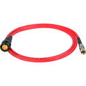 Laird RD1-DINB-3RD 3G-SDI DIN 1.0/2.3 to BNC Male Video Adapter Cable - 3 Foot Red