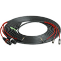 Laird RD1-MIX-15 Red One Quick Disconnect Camera-Field Mixer Cable w/ 2 Female XLRs and 1 3.5mm Right-Angle TRS Plug - 1