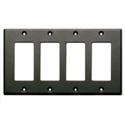 Photo of RDL CP-4B Quadruple Cover Plate - black