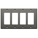 Photo of RDL CP-4G Quadruple Cover Plate - gray