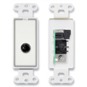 RDL D-1/4F 1/4 Phone Jack on Decora Wall Plate