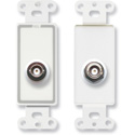 RDL D-BNC/D Insulated Double BNC Jack on Decora Wall Plate