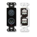 RDL DB-XLR2 XLR 3-pin Female & 3-pin Male on Decora Wall Plate with Terminal Block on rear