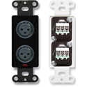 RDL DB-XLR2F Dual XLR 3-pin Female Jacks on Decora Wall Plate - Terminal Block