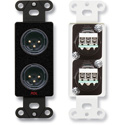 RDL DB-XLR2M Dual XLR 3-pin Male Jacks on Decora Wall Plate - Terminal block connections on rear