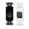 RDL DB-XLR3M XLR 3-pin Male Jack on Decora Wall Plate with Terminal Blocks